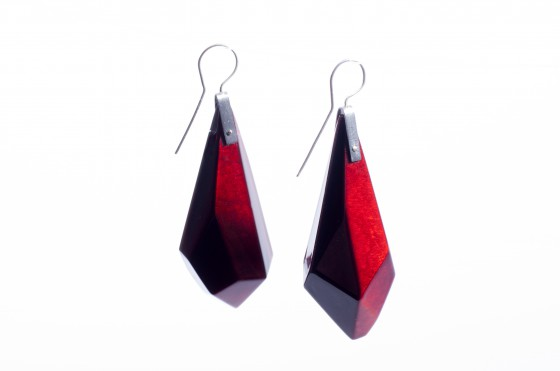 Sanna Svedestedt wooden diamond earrings